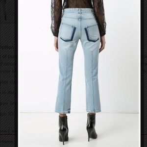 Alexander Mcqueen light wash cropped jeans